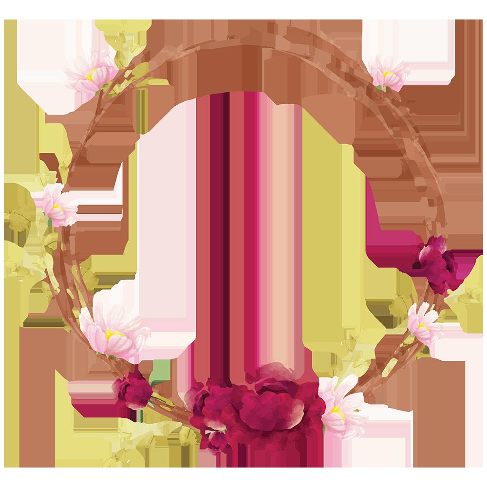 花や枝の輪っか